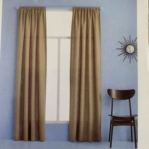 NWT Room Essentials | One Window Panel Tan Curtain